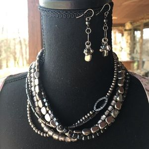 Silpada Hematite Hailstone Necklace Only